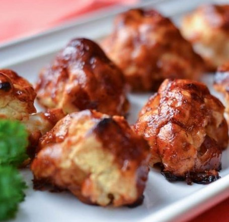 BBQ CAULIFLOWER BITES RECIPE #vegetarian #veggies