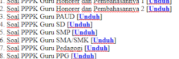 Download Kumpulan Soal PPPK 2021 terbaru
