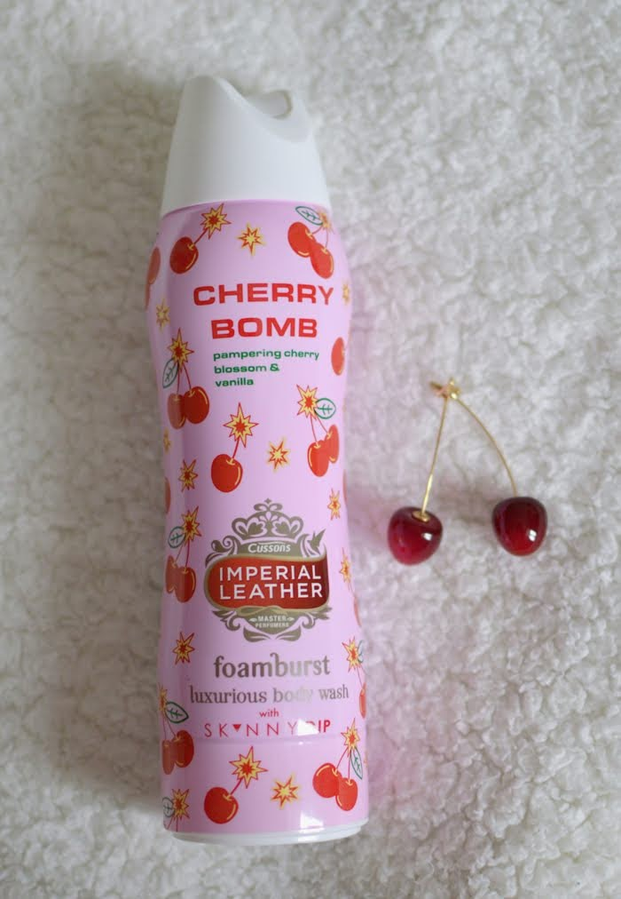 Imperial Leather Cherry Bomb Foamburst x Skinny Dip shower foam