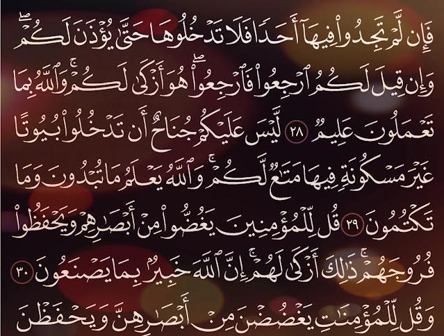 شرح وتفسير سورة النور Surah An-Nur  ( من الآية 21 إلى الاية 30 )