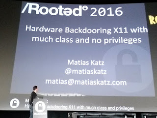RootedCon 2016 - Matias Katz: Hardware backdoring X11