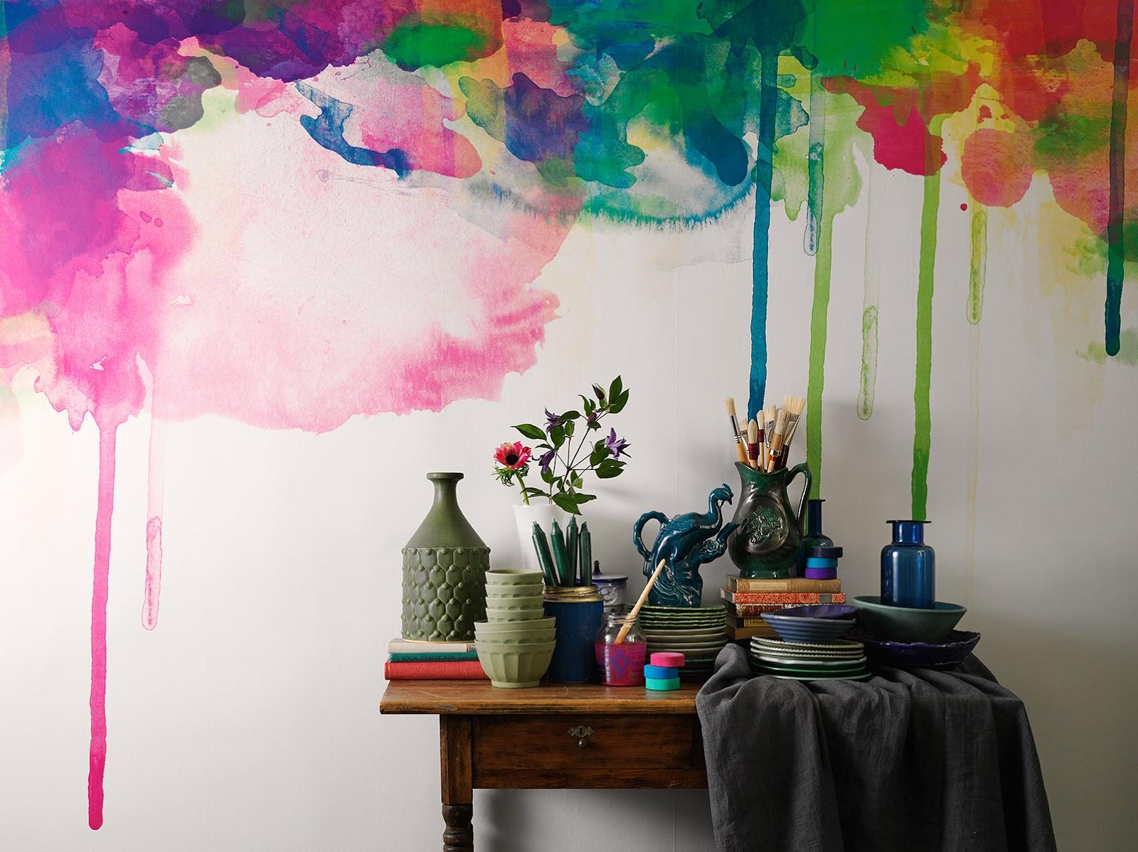 Wave Wall Murals Wish List Watercolor Murals
