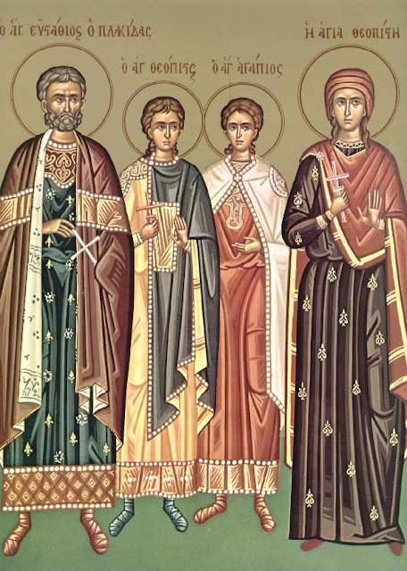 Άγιος Ευστάθιος και η συνοδεία του, Θεοπίστη η σύζυγος του