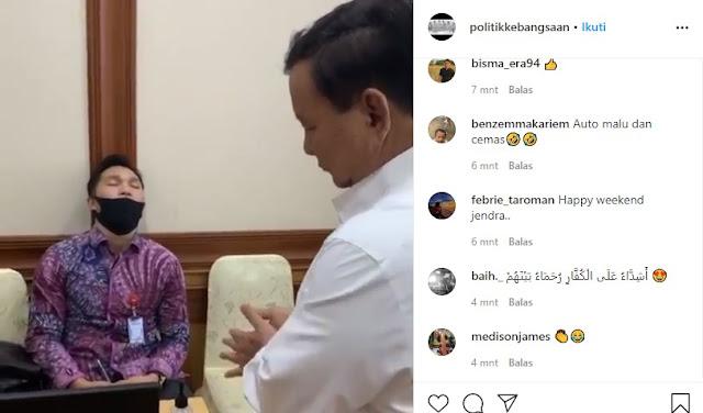 Aksi Menhan Prabowo Pergoki Asprinya yang Terlelap Saat Rapat