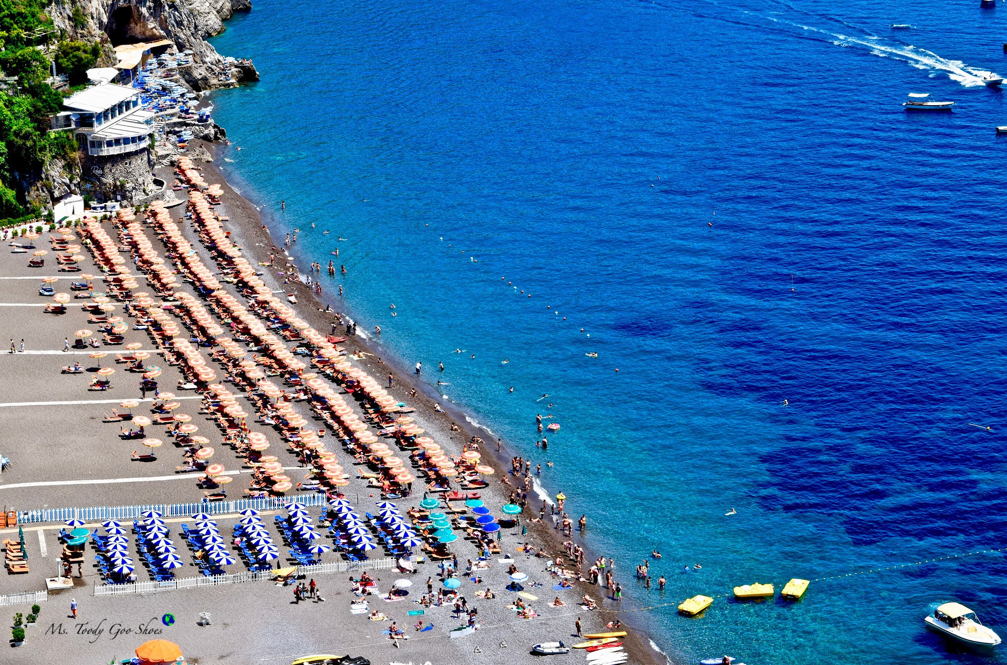 Beach View - Positano, Italy -  Ms. Toody Goo Shoes