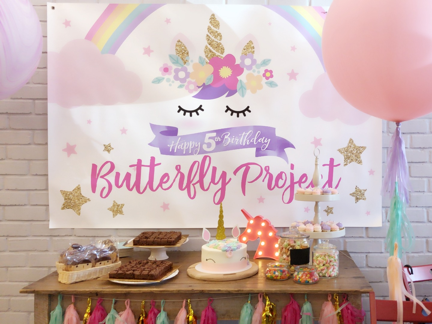 How we celebrated butterflyturns5 unicorn birthday party event thanks to tammy the beautiful woman behind the idea of the butterfly project the celebration was hosted successfully in an extraordinary manner izmirmasajfo Gallery