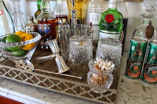 dicas para bebidas na bandeja