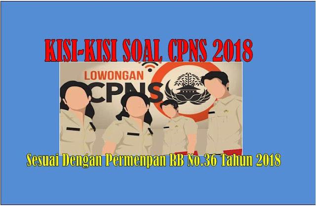 Kisi-Kisi Soal CPNS 2018