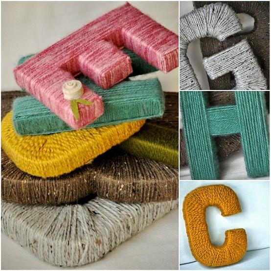 Make Bake And Love: DIY: Yarn Letters