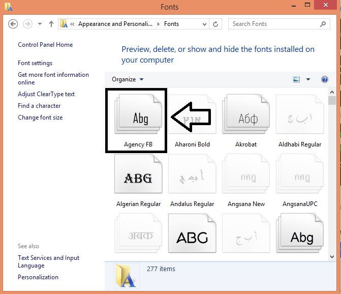 Install & Manage Fonts in Windows 10
