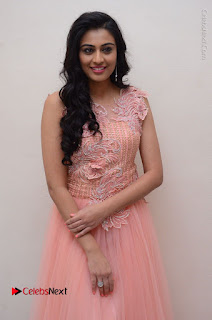 Actress Neha Hinge Stills in Pink Long Dress at Srivalli Teaser Launch  0042.JPG