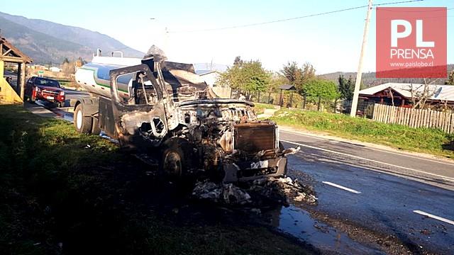 Ataques incendiarios en Contulmo