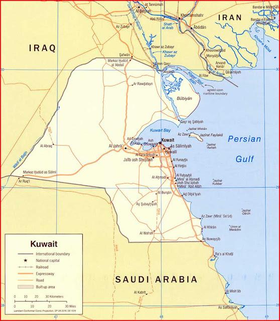 Gambar Peta politik Kuwait 2006