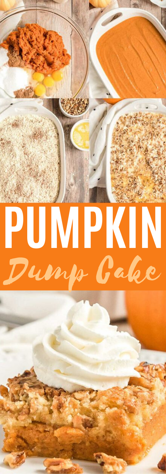 Pumpkin Dump Cake #cake #recipes #baking #desserts #pumpkin