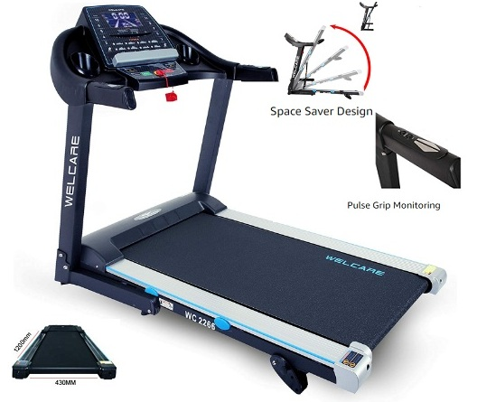 WELCARE WC2266 4 Hp Peak DC Motorized Folding Treadmill