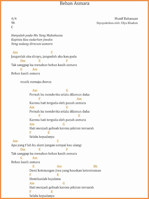 chord beban asmara