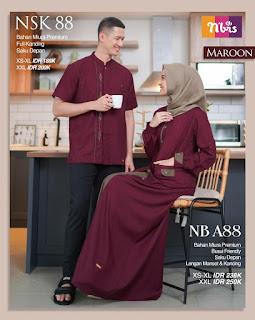 Nibras sarimbit Couple 88 Maroon