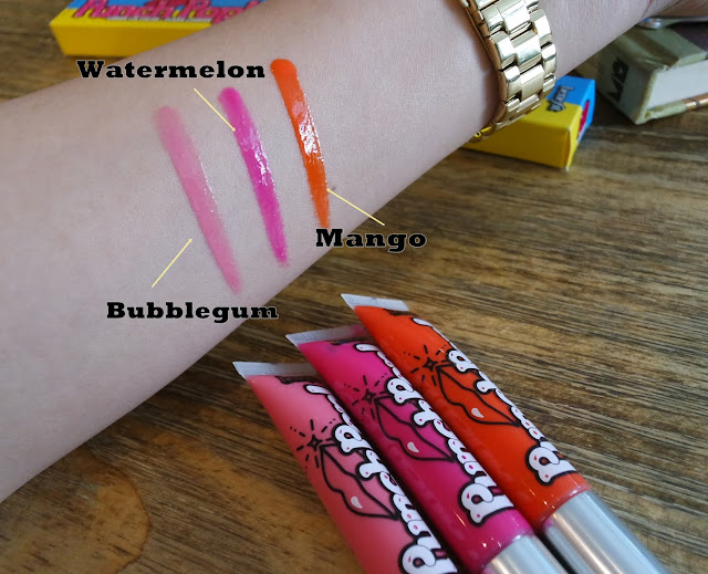 a photo of Benefit PunchPop!  Liquid Lip Color  bubblegum, watermelon and mango