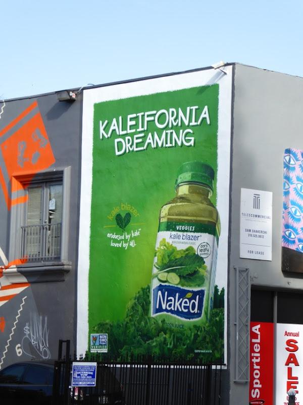 Kaleifornia Dreaming Kale Blazer Naked Juice billboard