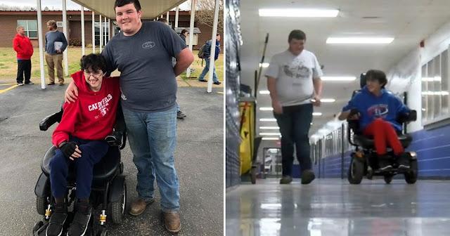 Μαθητής δούλευε και μάζευε λεφτά για 2 χρόνια για ν' αγοράσει αναπηρικό καροτσάκι στον συμμαθητή του