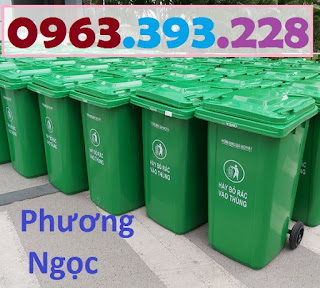 Thùng rác nhựa 240 lít nắp kín,thùng rác 2 bánh xe nhựa HDPE,thùng rác nhựa 240L TR240L6
