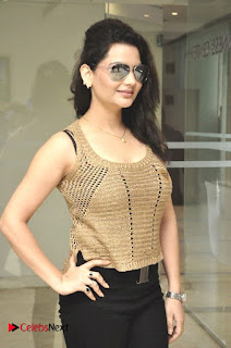 Actress Madhavi Sharma Pictures in Black Jeans at Deccan Film Society Launch  0013.jpg
