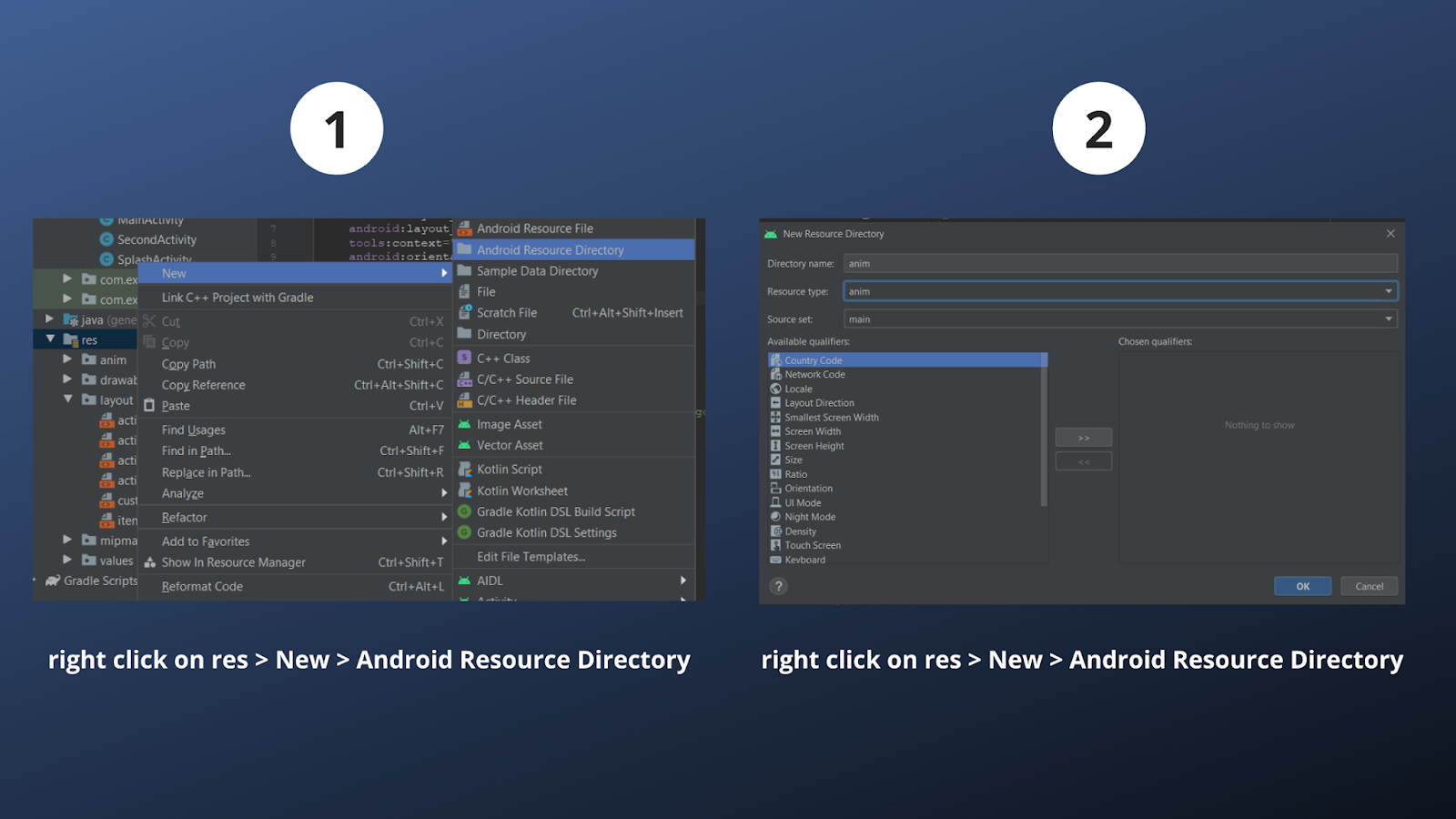Create anim directory