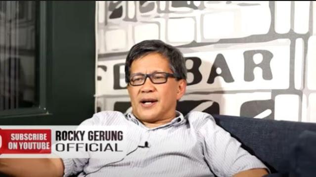 Omnibus Law Abai Suara Rakyat, Rocky Gerung: Kejahatan yang Direncanakan