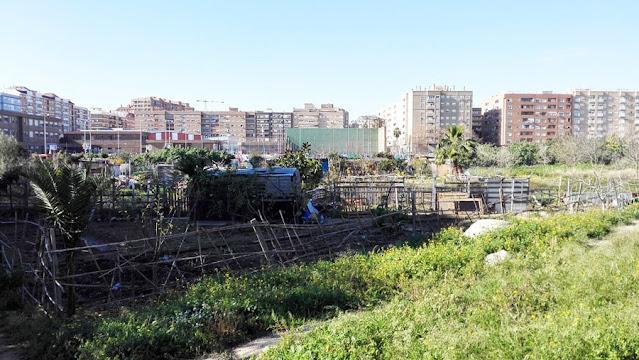 Imagen 9: En Benimaclet sigue las mismas pautas que en otras ciudades y pueblos de la Comunidad Valenciana: Masías, casas y tierras ocupadas, chabolas construidas en solares.