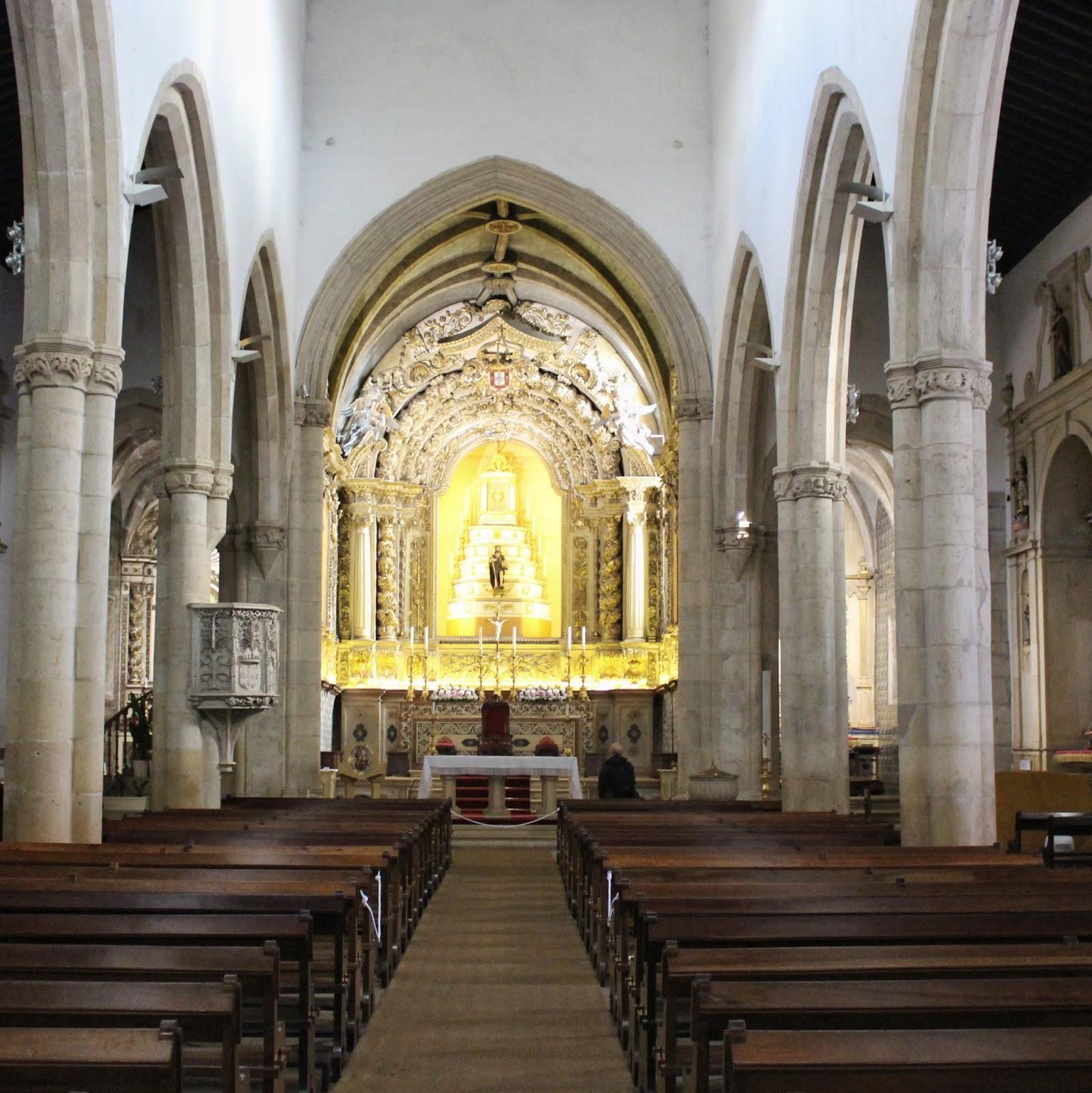 Interior da Igreja São João Batista, Tomar