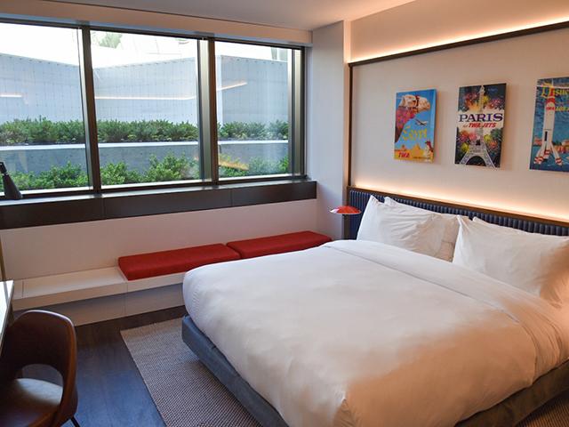 TWA Hotel JFK Hotel Room Bed