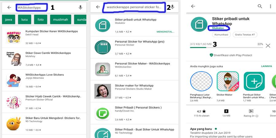 Cara membuat stiker di Whatsapp - Personal Stickers for WhatsApp