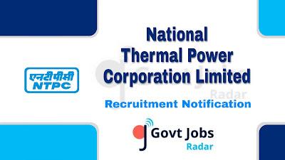 NTPC recruitment notification 2019, govt jobs in Chhattisgarh, central govt jobs, Chhattisgarh govt jobs, govt jobs for ITI, govt jobs for Diploma
