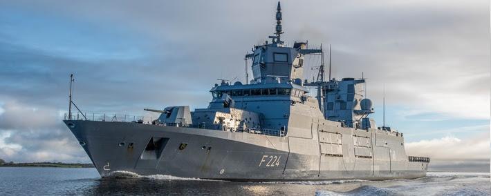 ВМС Німеччини ввели до строю третій фрегат F125