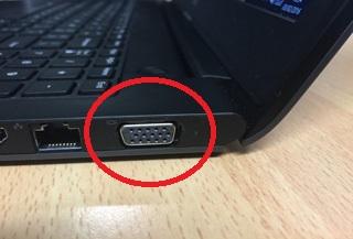 Porta VGA em notebook