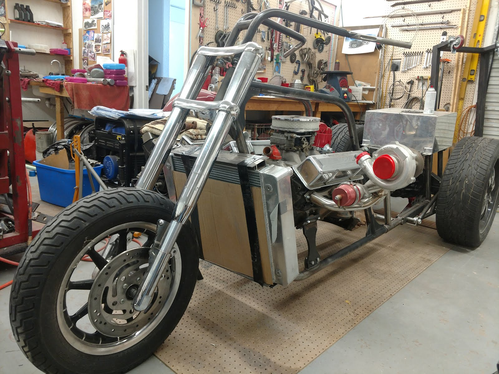 350 chevy trike rolling chassis