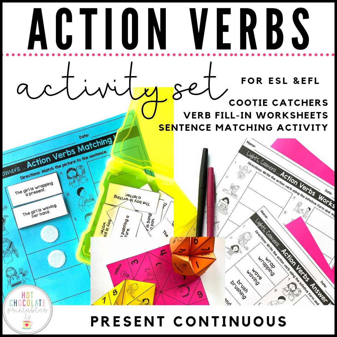 Lights Camera Action Verbs