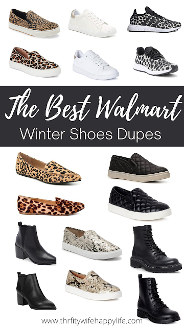 The Best Walmart Winter Shoe Dupes || Thrifty Wife Happy Life