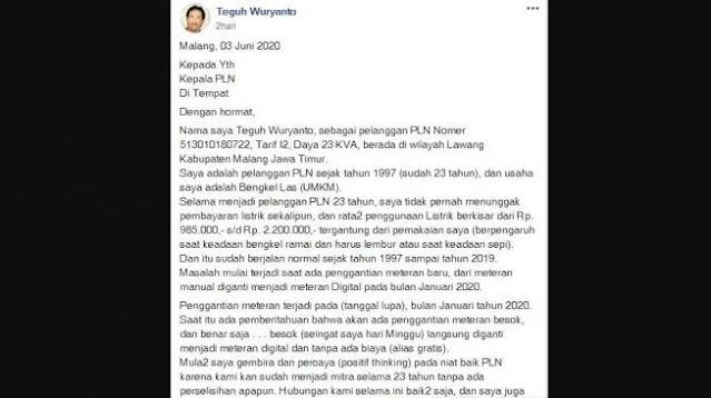 Protes PLN, Netizen: Tukang Las Ditagih Rp20 Juta, Ngelas Kapal Induk?