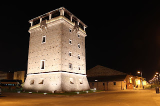 Cervia's San Michele Tower, next to the salt museum, predates the new town