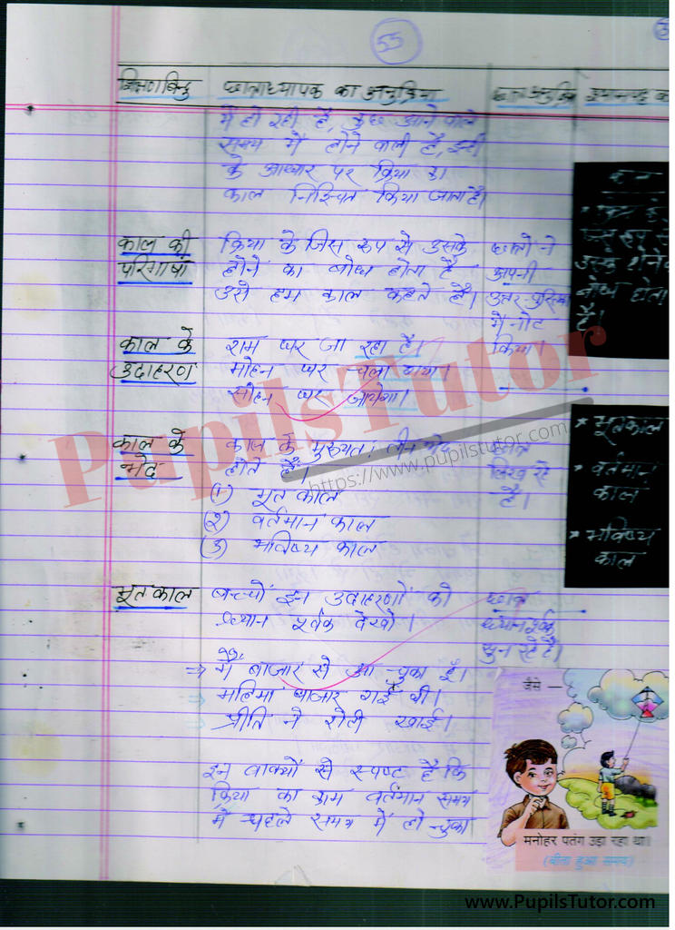 Hindi ki Mega Teaching Aur Real School Teaching and Practice Path Yojana Kal Aur Kaal Ke Bhed Evam Prakar kaksha 6 se 10 tak  k liye