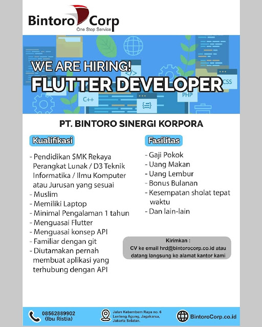 Lowongan Kerja Flutter Developer