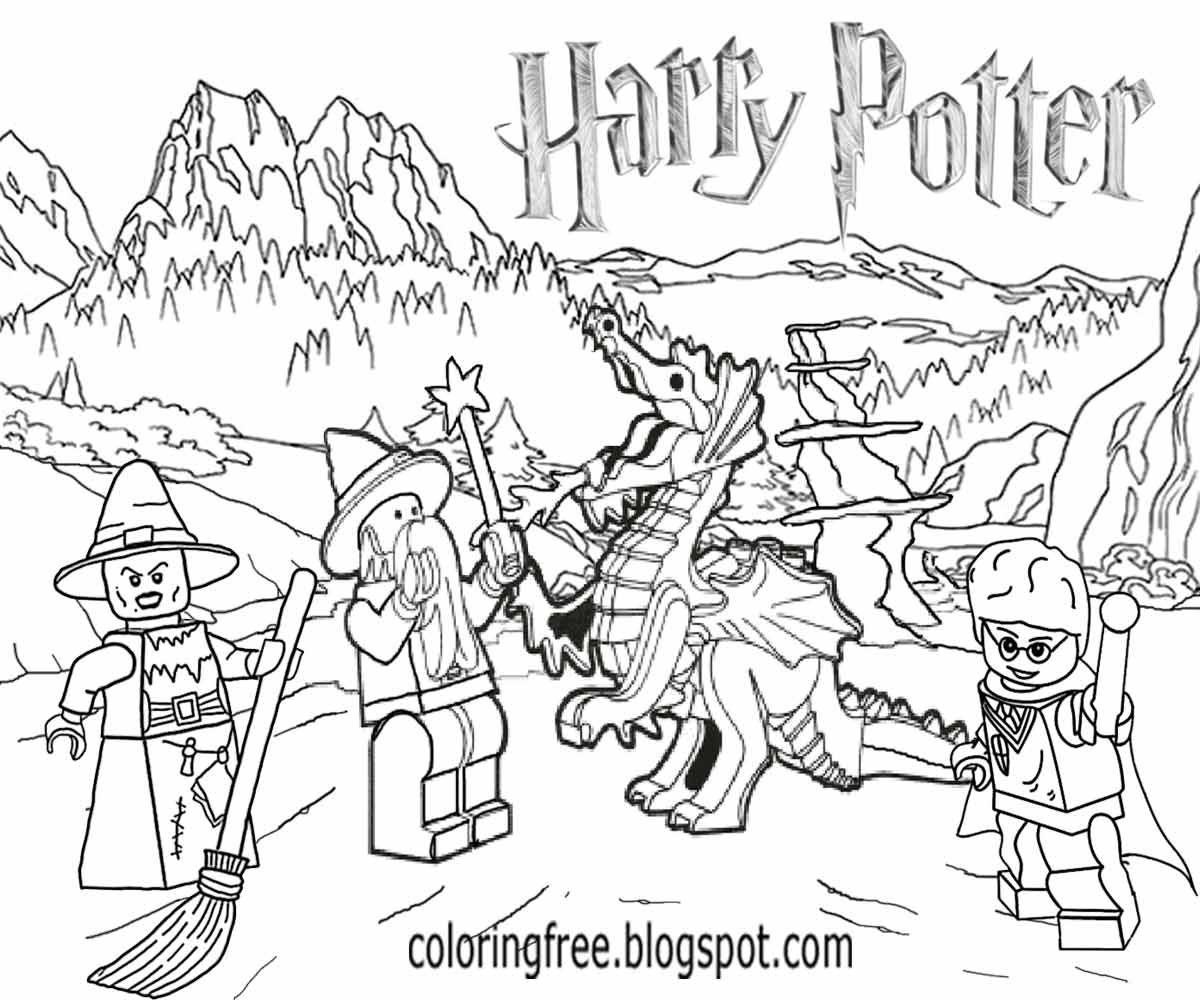 Harry Potter Lego Coloring Pages To Print