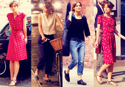 El estilo de Keira Knightley en Begin Again