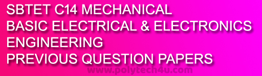 c-14 me BASIC ELECTRICAL AND ELECTRONICS ENGINEERING PREVIOUS QUESTION PAPERS pdf file sbtetap
