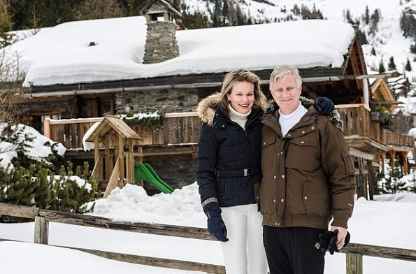 The Belgian Royal Family Photocall At The Ski Slopes In Verbier 2016