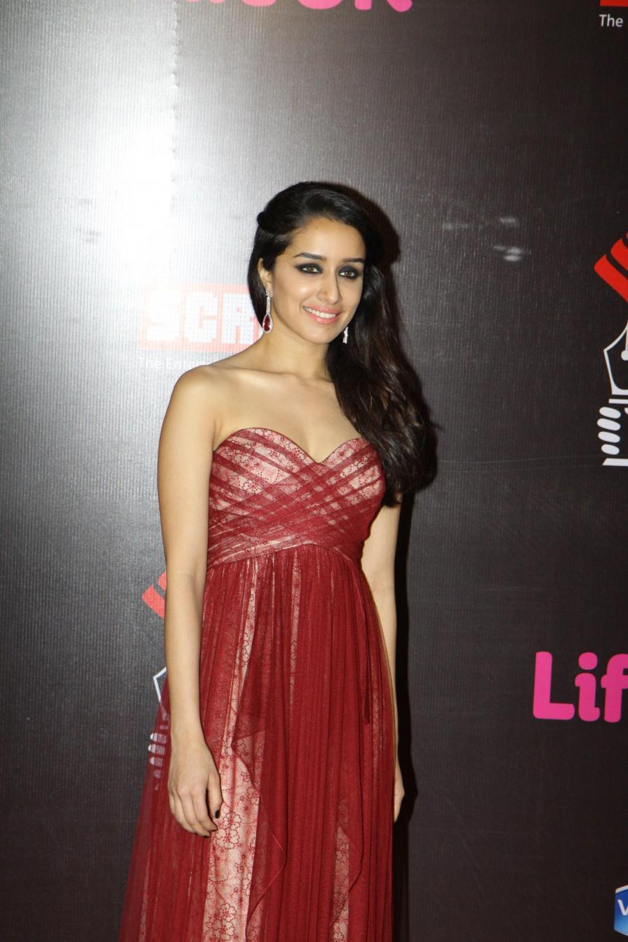 Shraddha Kapoor In Maroon Gown At Screen Awards