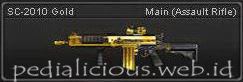 Senjata Point Blank SC-2010 Gold