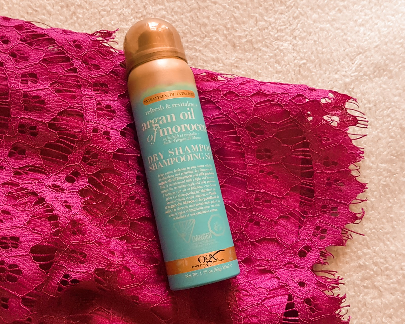 Great smelling dry shampoo made with argan oil from morocco