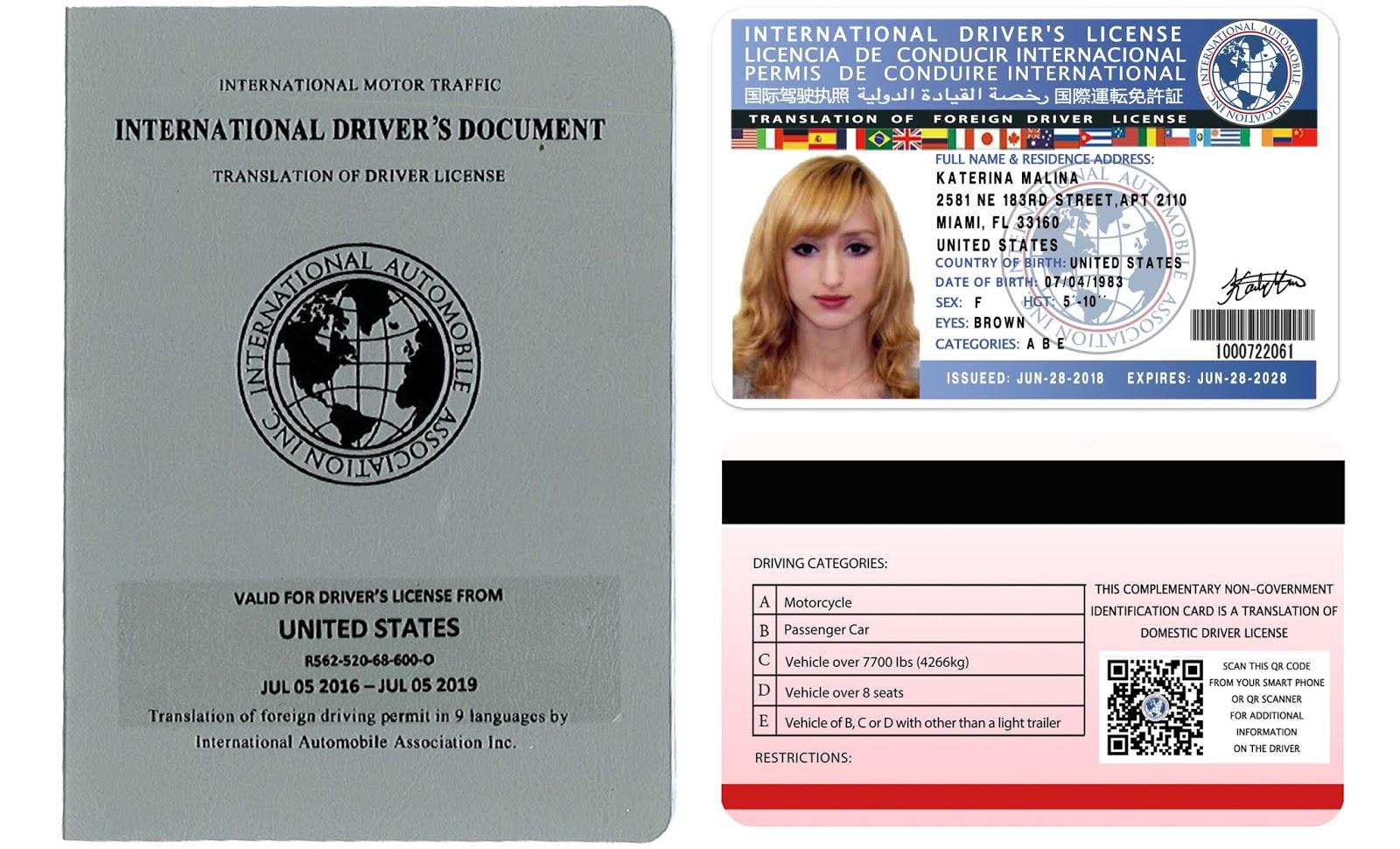 International driving licence application